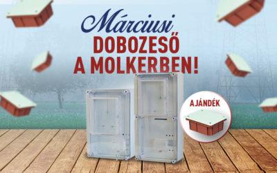 Márciusi dobozeső a Molkerben!